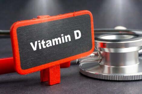 Vitamina D e stetoscopio.