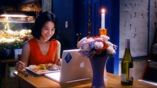 Cena romantica virtuale