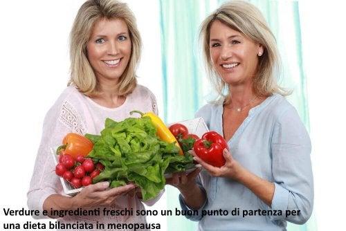 Verdure nella dieta in menopausa
