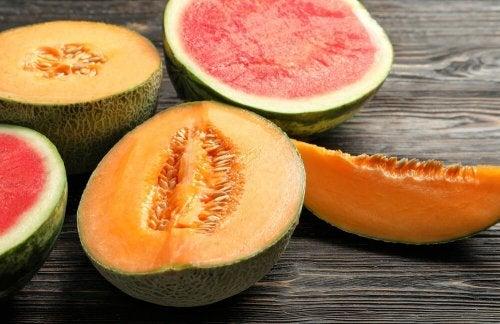 Melone ricco in fibra