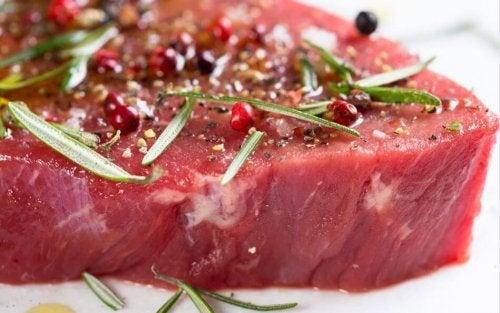 Carne rossa marinata