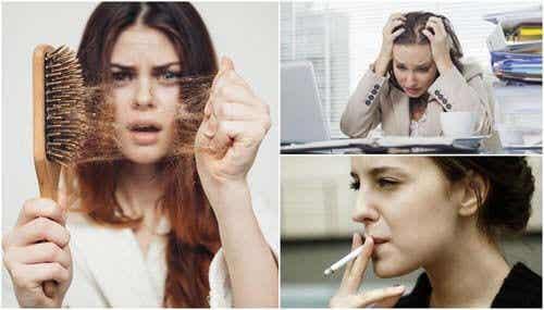 Motivi per cui cadono i capelli in abbondanza