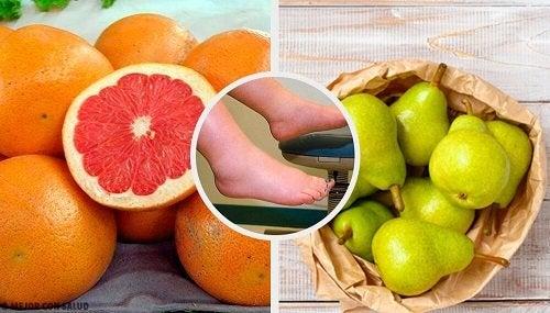 Combattere la ritenzione idrica con la frutta