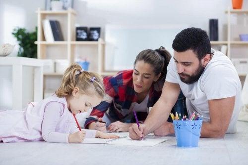 Compiti a casa con i genitori
