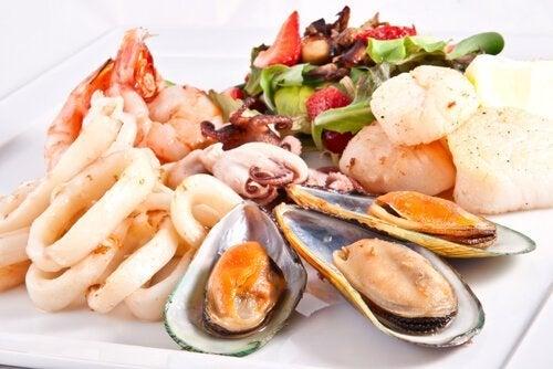 Frutti di mare a tavola