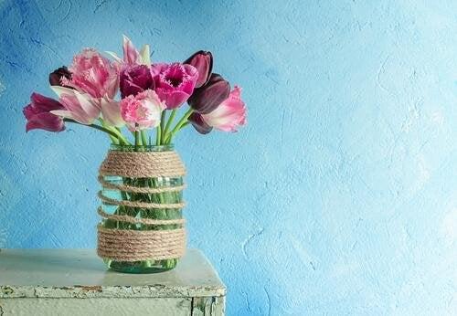 Barattolo con fiori