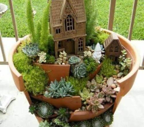 Mini giardino decorare i vasi
