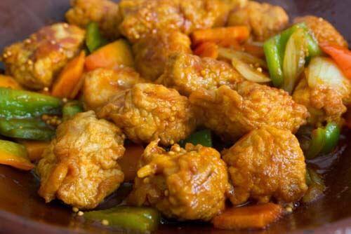 Pollo fritto contiene zucchero