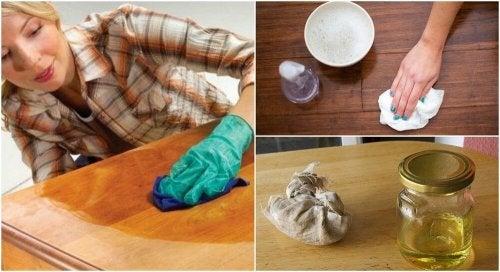 Come pulire i mobili vecchi
