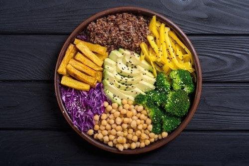 Una dieta vegana