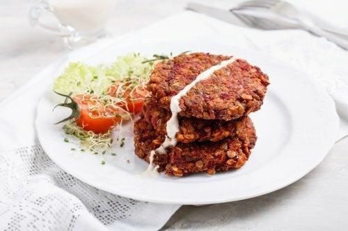 Hamburger lenticchie rosse