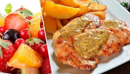 Petto di pollo in salsa di frutta