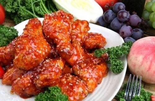 Ali di pollo in salsa agrodolce