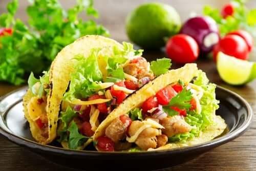 tacos vegani con la soia