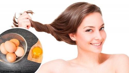 Rimedi naturali all'uovo per la cura dei capelli