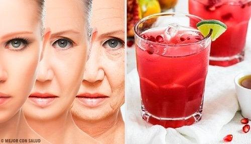Succo antiossidante e antinvecchiamento di uva, melograno e moringa
