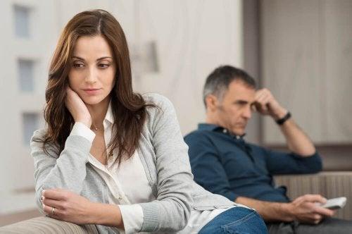 Problemi in una relazione sentimentale.
