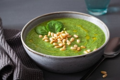Zuppa di riso e spinaci