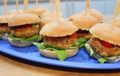 Mini hamburger vegani