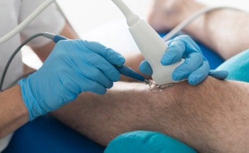 Ultrasuoni al ginocchio