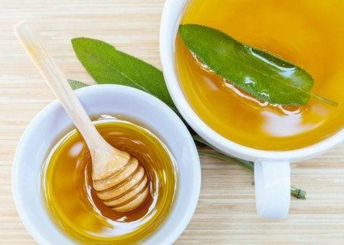 Rimedio naturale a base di miele e salvia