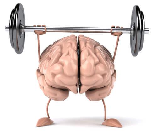 Cervello che si allena con il bilanciere