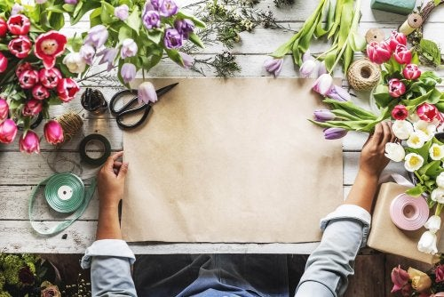 Lavori manuali con i fiori