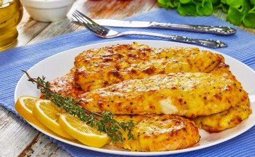 Pollo alla senape con miele