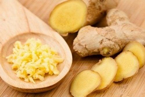 Pezzi di zenzero tra i rimedi naturali per la insufficienza renale