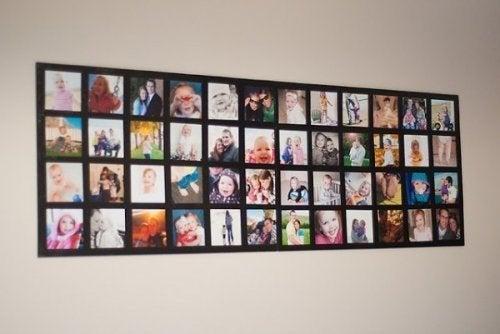 Arredare con le foto di famiglia, collage