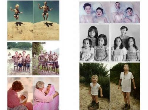 Fotografie vecchie paragonate a nuove