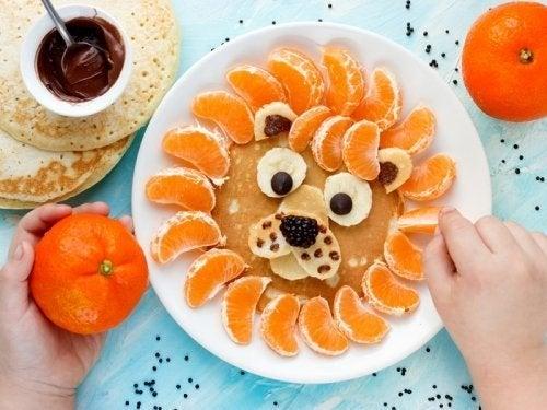 Piatti divertenti nelle diete per bambini