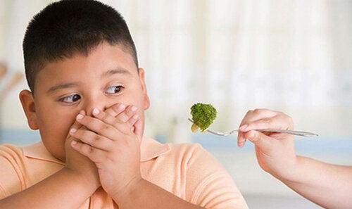 Rifiuto dei broccoli da parte dei bambini