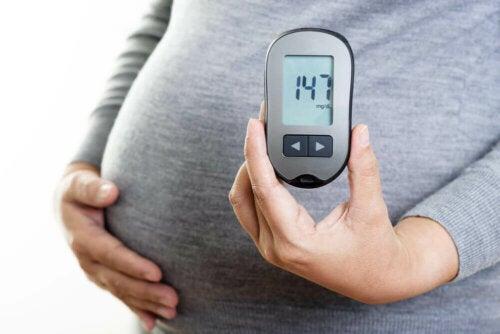Donna con diabete gestazionale