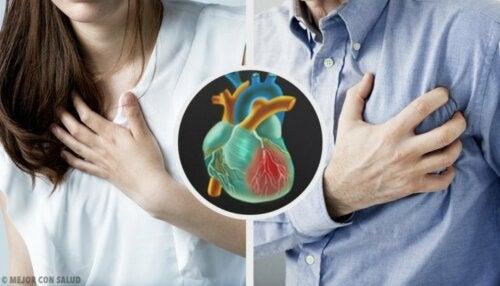 I sintomi di un infarto