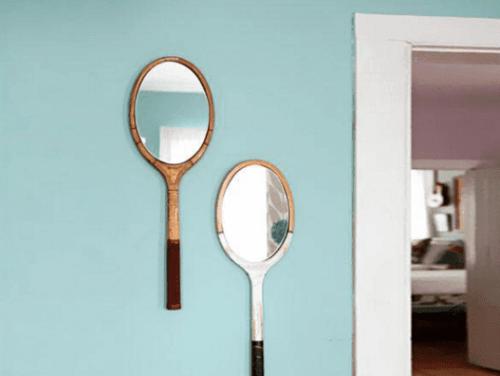 Specchi a forma di racchetta