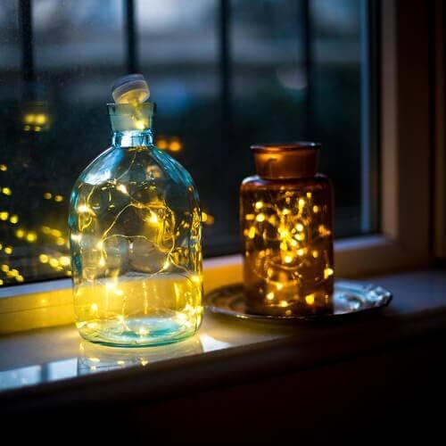Lampade con materiali riciclati