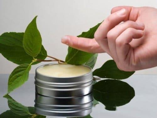 Unguento a base di olio essenziale di pino per il raffreddore
