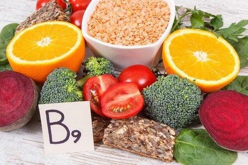 Alimenti con vitamina B o acido folico