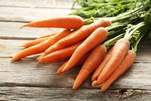 Valori nutrizionali delle carote.