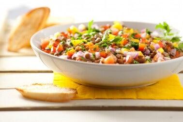 Insalata di lenticchie.
