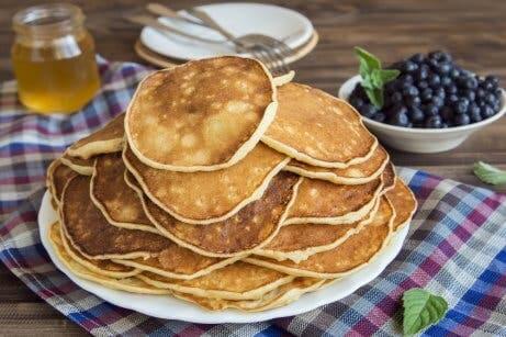 Pancake proteici ai mirtilli