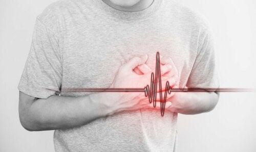 Uomo con infarto