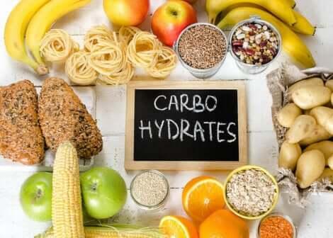 Alimenti ricchi di carboidrati.