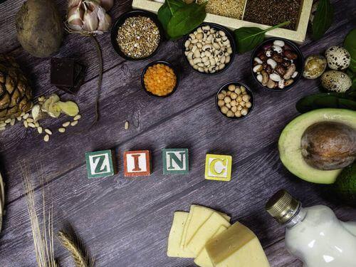 Cibi sani che contengono zinco.