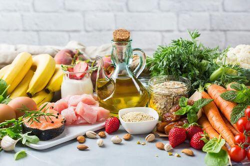 Alimenti previsti nella dieta mediterranea.