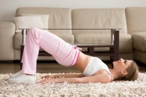 Esercizi di rafforzamento per la schiena.