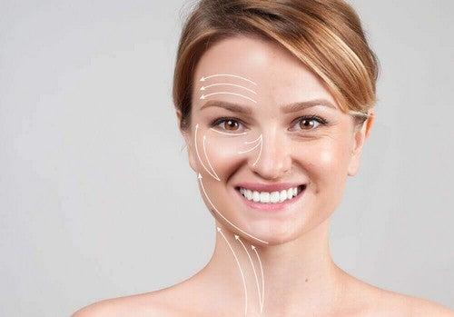 Effetti sulla pelle dei peptidi di collagene.