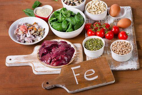 Alimenti che contengono ferro.
