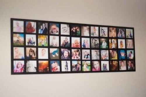 Mosaico di foto da appendere.